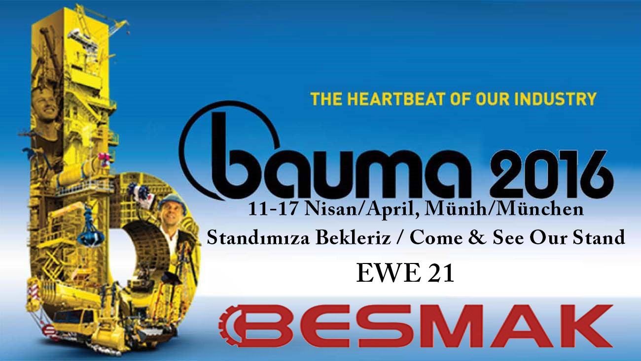 BESMAK - Will be at Bauma 2016 in Munich