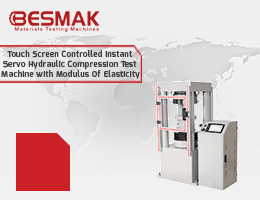 Touch Screen Controlled Instant Servo Hydraulic Compression Test Machine with Modulus Of Elasticity
