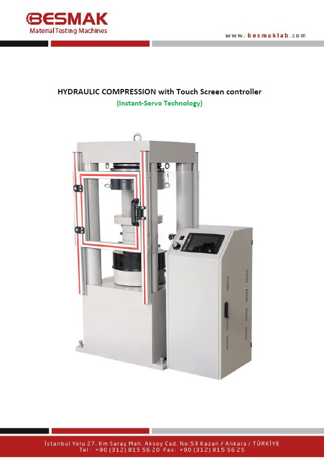 2000 kN 4 Colums Type Concrete Press Machine ( Touch Screen )