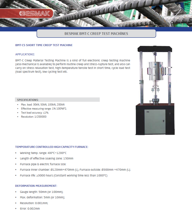 Stress Test Double Product: Short Time Creep Testing Machine