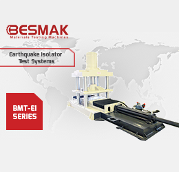 BESMAK 2000kN-500kN EI SERIES 628mm-Sec. Earthquake Isolator Test Systems