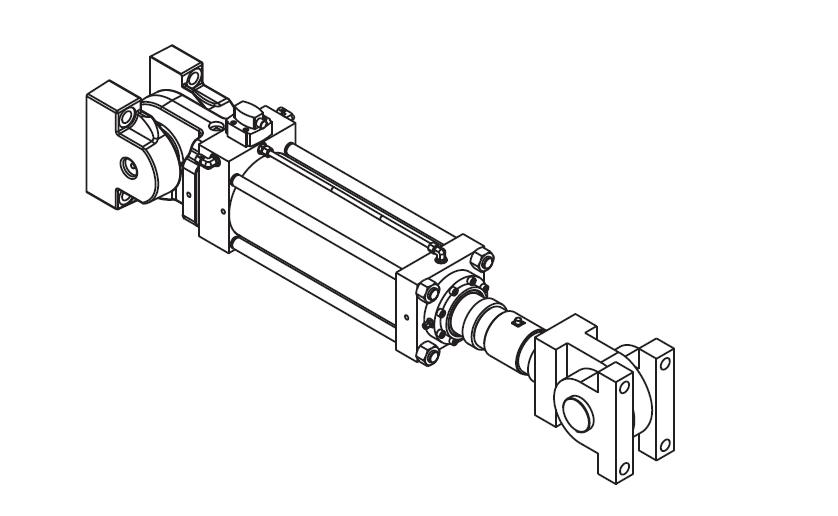Single-Ended Servo Hydraulic Actuators