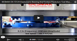 BESMAK - Elastomeric Bearing And Friction Pendulum Test Machine - (0.2 Hz - 188.4 mm/Sec)