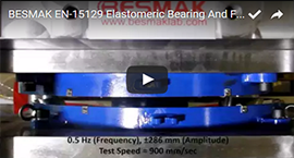 BESMAK - Elastomeric Bearing And Friction Pendulum Test Machine - (0.5 Hz - 900 mm/Sec)